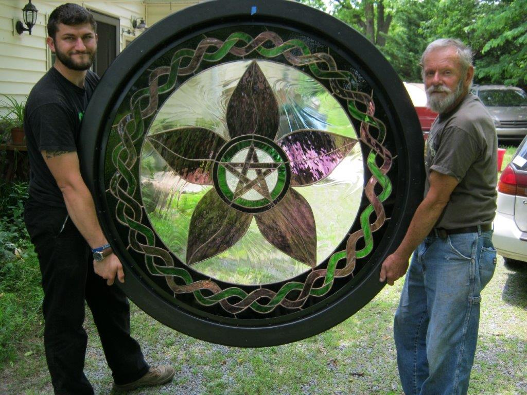 Jay and Friends Display completed Pentacle Window